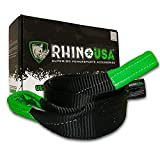 Rhino USA Tree Saver Tow Strap 3' x 8' - Lab Tested 31,518lb Break Strength - Triple Reinforced Loop End to Ensure Peace of Mind - Emergency Off Road Recovery Rope - Unlimited!