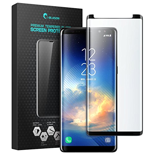 i-Blason Galaxy Note 8 Screen Protector, Premium Edge-to-Edge Full Coverage Tempered Glass Screen Protector With Mounting Tool for Samsung Galaxy Note 8 (2017 Release)