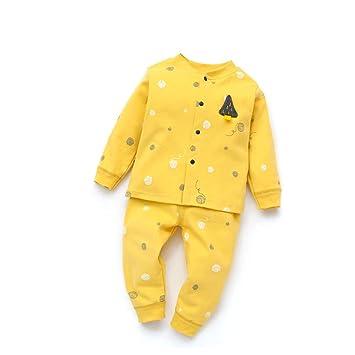 Manga larga del bebé Camisas y pantalones botón frontal con ...