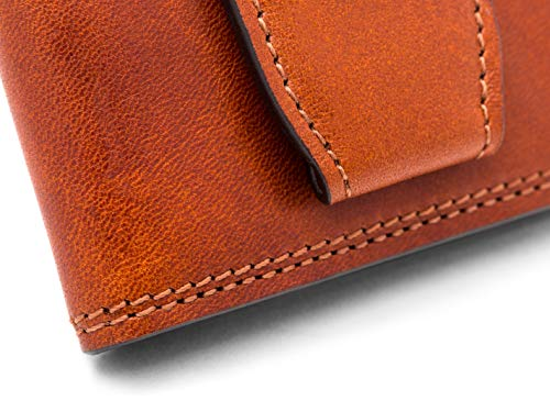 Wallet with Close Dolce Old Front Bosca Pocket Magnet Amber Leather qSX7wTp
