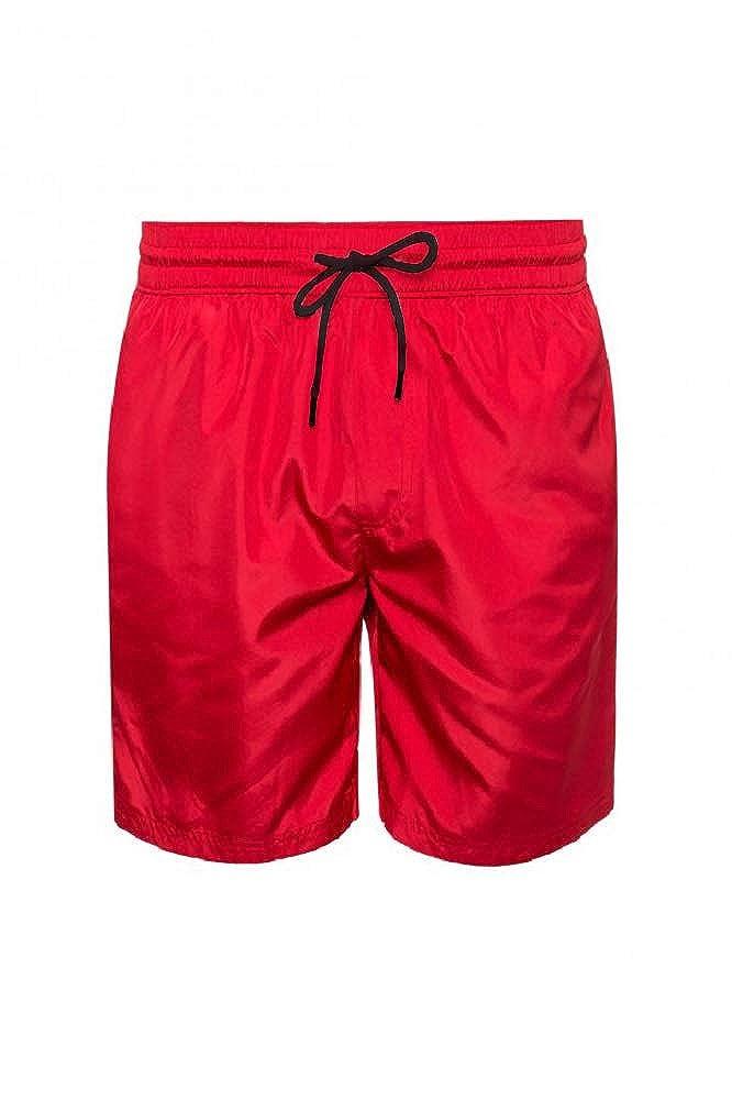 2b6a03a1fb BURBERRY Men's Red Guildes Side Logo Swim Shorts | Amazon.com