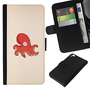 All Phone Most Case / Oferta Especial Cáscara Funda de cuero Monedero Cubierta de proteccion Caso / Wallet Case for HTC Desire 820 // Octopus Squid Toy
