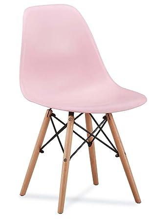 Stuhl Amaretto Modern Esszimmerstuhl Kuche Buro Burostuhl 10 Rosa