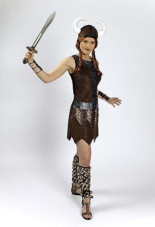 Generique - Disfraz guerrera vikinga Mujer: Amazon.es: Juguetes y ...