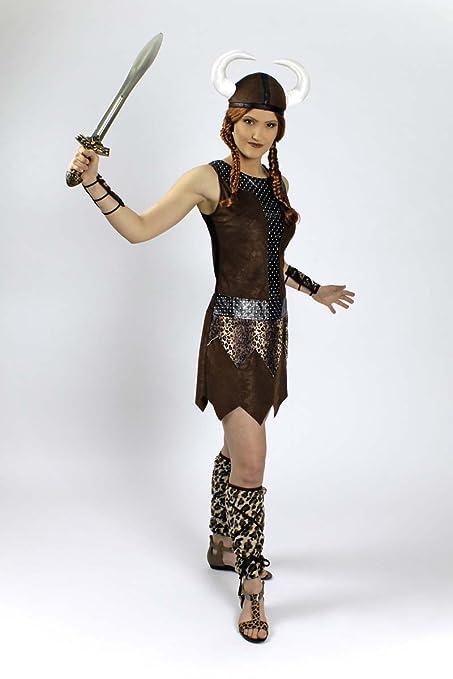 Generique - Disfraz guerrera vikinga Mujer: Amazon.es ...