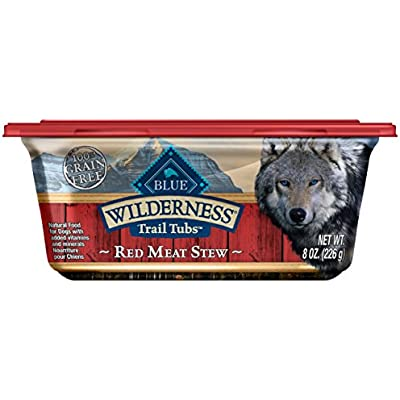 Blue Buffalo Wilderness Trail Tubs High Protein Grain Free, Natural Wet Dog Food Tubs