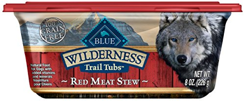 Blue Buffalo Wilderness Trail Tubs High Protein Grain Free, Natural Adult Wet Dog Food Tubs, Red Meat Stew 8-Oz (Pack Of 8)