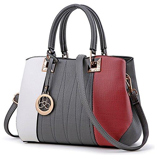 mesdames sac à Sac gris de simple 3 couleur Messager main d'épaule qwIwXP