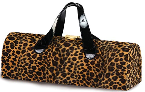 Picnic Plus Carlotta Clutch Wine Purse Bottle Tote Cheetah Fur