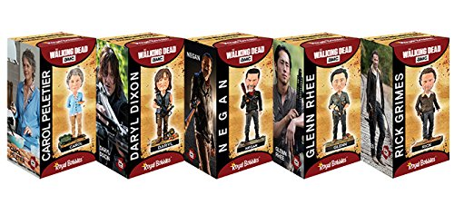 Royal Bobbles The Walking Dead Bobblehead Box Set Featuring Rick, Daryl, Carol, Negan, and Glenn, Collectible Bobblehead Figurines 5 -