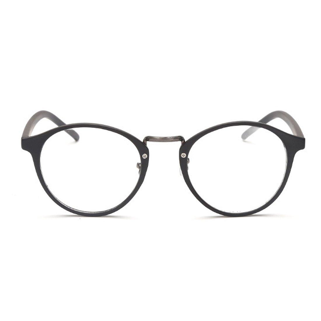 Huicai Mann Frau Retro Brille Mode Myopie Brille Runde Rahmen Gl/äser-1,00 bis-6,00