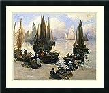Framed Wall Art Print Port Breton by Fernand Legout-Gerard 26.00 x 22.25