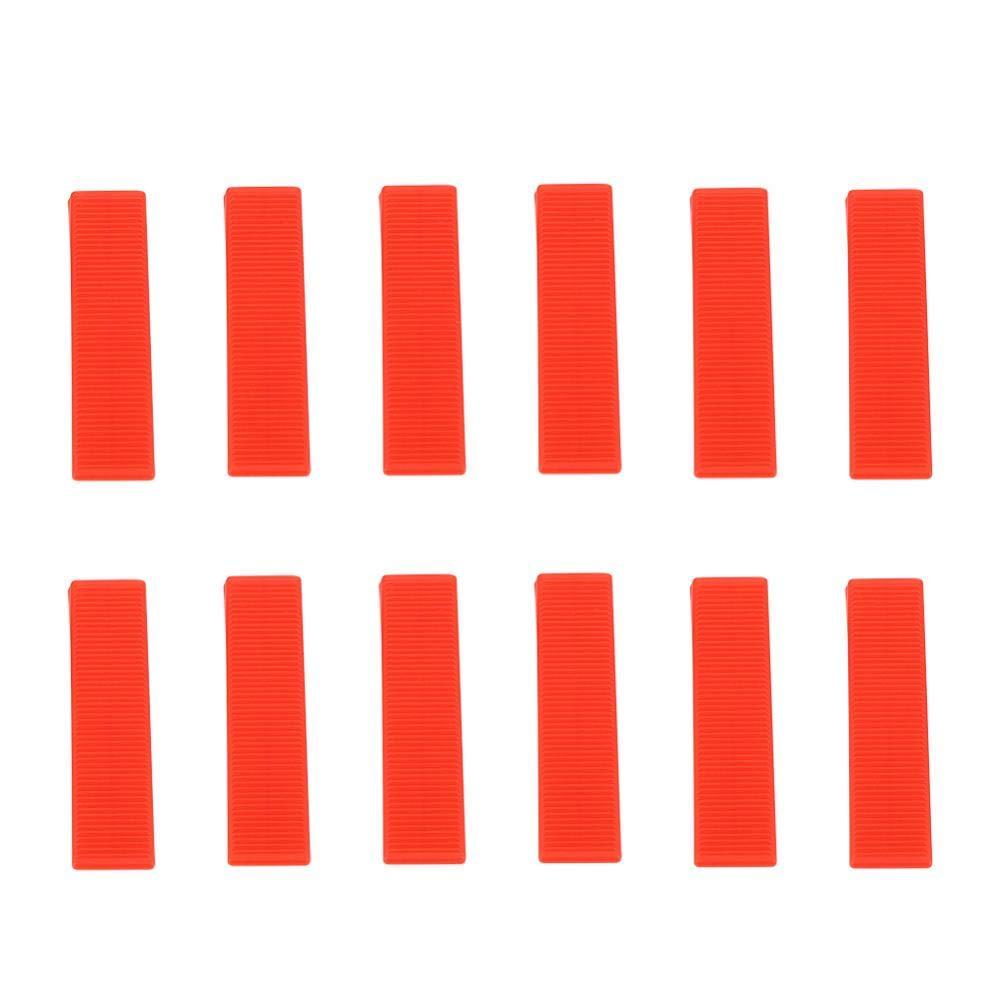 100pcs Syst/ème de Nivellement Cale Rouges Mur Carrelage pour Carrelage Carreleur Niveleur Entretoises Clips Coins Cale Niveleur Entretoises Outils de Nivellement Plan sans clips