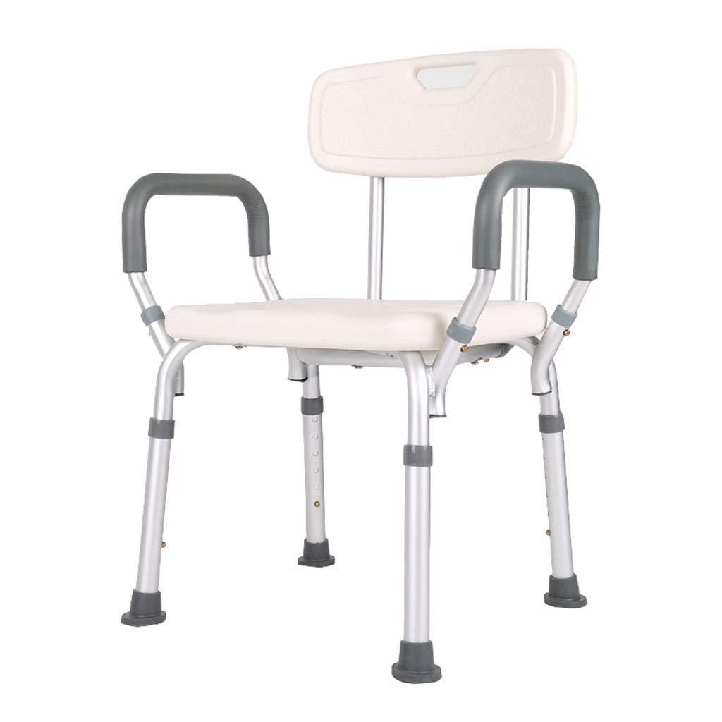 軽量アルミ製シャワースツール/バスシートベンチ - 調節可能な高さ Ailin home   B07H6692Q5