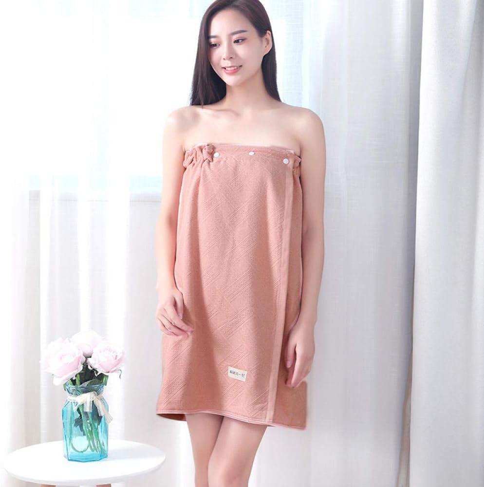 N/A Paño de enfriamiento, Toallas de baño para Usar, Faldas de baño para Damas, Toallas de baño de algodón absorbentes para el hogar Grandes de algodón-I-Pink_140x70cm
