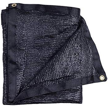 E.share 40% UV Shade Cloth Black Premium Mesh Shadecloth Sunblock Shade Panel 12ft x 6ft