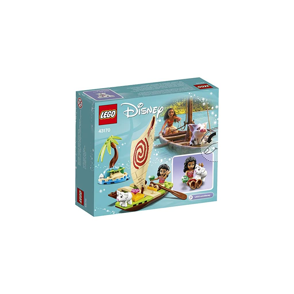 LEGO-Disney-Moanas-Ocean-Adventure-43170-Toy-Building-Kit-New-2020-46-Pieces