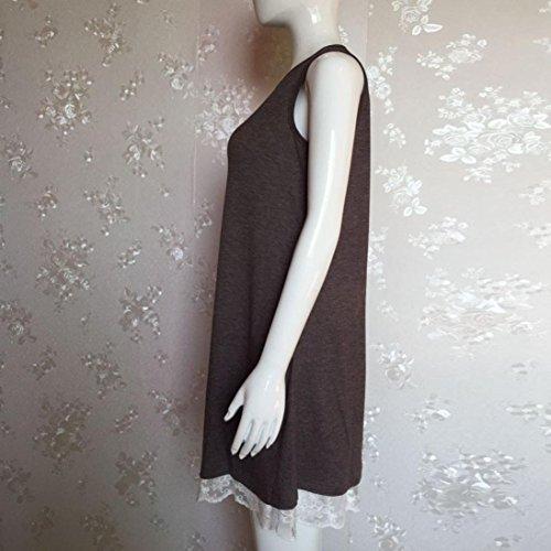 2018 Damen Ärmellose Spitze Kleid ❤️SHOBDW Frauen O Hals Casual ...