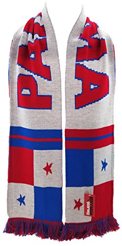 National Soccer Team Panama International Soccer Scarf, White, One Size