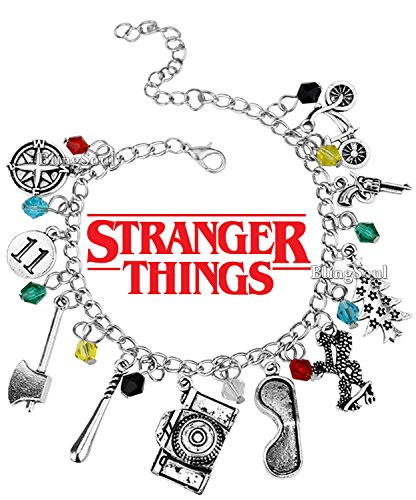 BlingSoul The Eleven Stranger Things Bracelet For Girls Women - 11, Bob, Dustin, Chief Hopper Costume Merchandise Erica, Lucas, Barb Gifts