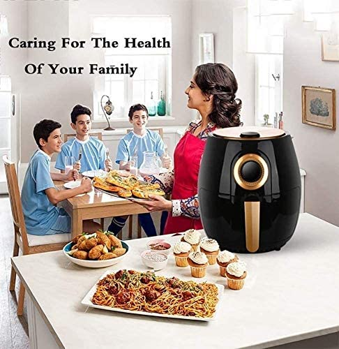 Air Fryer Accessoires 1350 Watt Compact Air Fryer Oven met temperatuurregeling, Non Stick Fry mand, Anti-Kokend Handle Home Kitchen