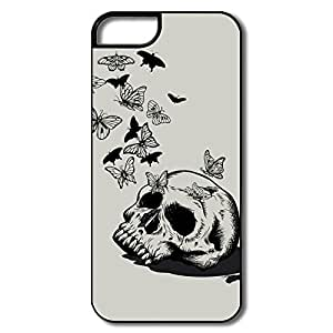 PTCY IPhone 5/5s Customize Vintage Skull Butterfly Nest