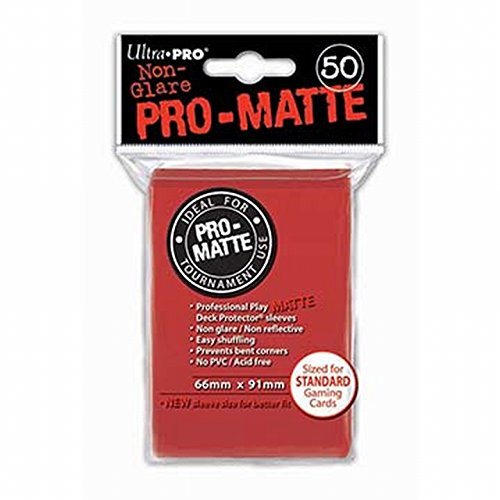 (Ultra Pro Pro-Matte Red Deck Protector)