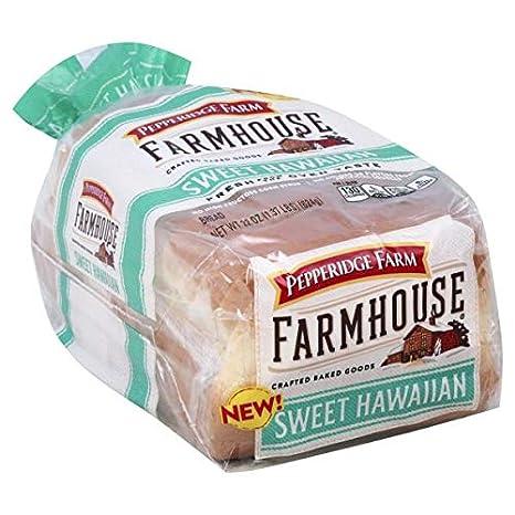 Amazon Com Pepperidge Farm Farmhouse Sweet Hawaiian Bread Loaf 22oz Grocery Gourmet Food
