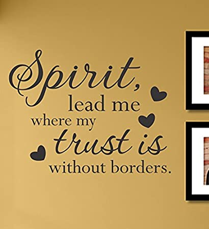 Amazon.com: Spirit Lead Me Where My Trust Is Vinyl Wall Decals ...