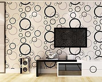 Tapete/moderne minimalistische Tapeten/Schwarz/weiß Kreise Tapete ...