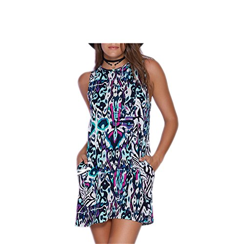 AIOPPOO Fashion black and white dress causal plus size women clothing chic geometric print dresses picture2 - Shopping Yoox