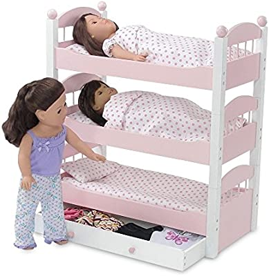 Amazon Com Emily Rose 18 Inch Doll Bed Doll Furniture Doll