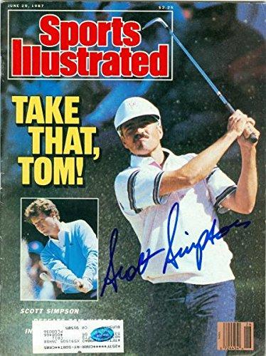 Signed Scott Simpson Photo - (Sports Illustrated Magazine - Autographed Golf - Simpson Photo Scott