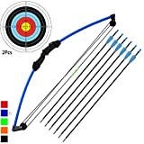kaimei 35' Junior Compound Bow and Arrow Archery Set Outdoor Sports Game Hunting Toy Gift Bow Kit Set with 6 Arrows 18 Lb for Kids Children Teens Youth
