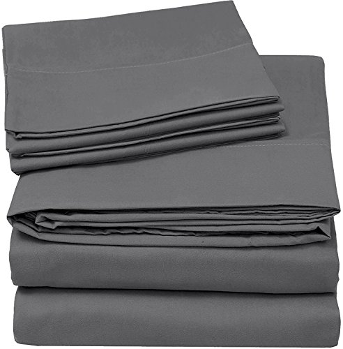 Utopia Bedding 4-Piece Queen Bed Sheet Set - ...