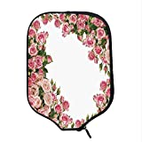 YOLIYANA Roses Decorations Durable Racket Cover,Romantic Rose Bushes Frame Bridal Marry Park Summer Occasions Decorative Image for Sandbeach,One Size