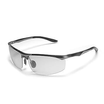 Gafas De Sol De Cambio De Color De Conducción Para Hombres Espejo Polarizado Bicolor Inteligente Antideslumbrante