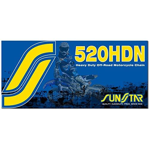 Sunstar 520 HDN Heavy Duty Non-Sealed Chain (120 Links) (Natural)