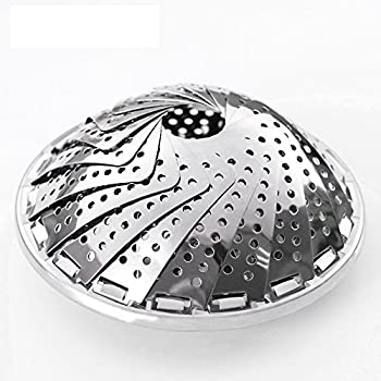 """AMFOCUS Stainless Steel Vegetable Steamer Basket 5.3"""" Expands to 9"""""""