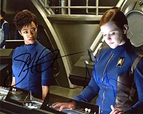 Sonequa Martin-Green/Mary Wiseman STAR TREK DISCOVERY In Person Autographed Photo