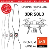 MAS Upgrade Propellers for 3DR Solo with Built-in Nut in White - x4 in Set