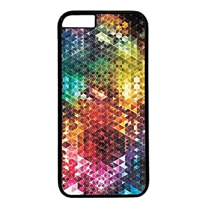 Hard Back Cover Case for iphone 6,Cool Fashion Black PC Shell Skin for iphone 6 with Colorful Geometric Art
