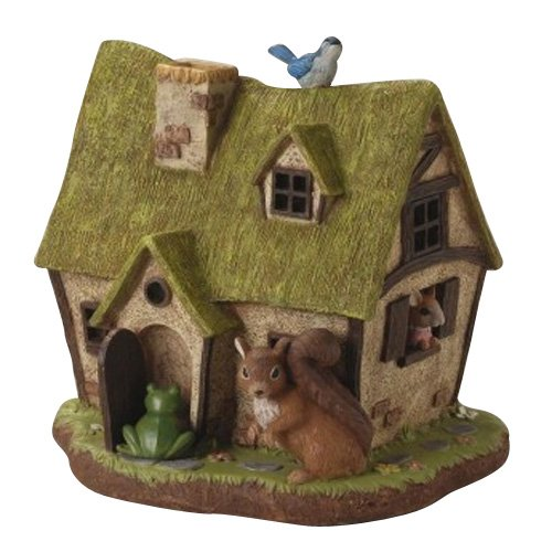 LED Solar Cute Animals House Ornament Light, Size : W 12.00 x L 10.43 x H 11.41 Inch by setocraft