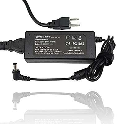 "Molshine 19V AC Adapter Compatible for LG Electronics LED LCD HDTV Monitor Widescreen (19"" 20"" 22"" 23"" 24"" 27"") Power Supply Cord Wall Charger"