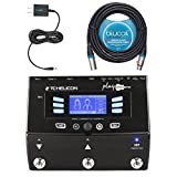 TC Helicon Play Acoustic Vocal Effects Processor - INCLUDES - Replacement Blucoil Power Supply Slim AC/DC Adapter for 12 Volt DC 1000mA AND 20' XLR Cable