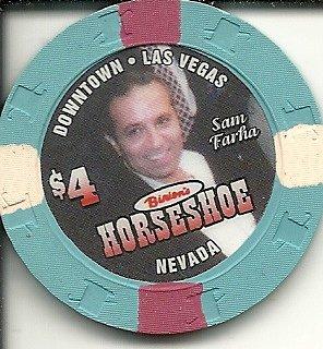 $4 binion's horseshoe sam farha poker casino las vegas casino chip obsolete