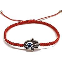 Aloha Pulsera/Hilo Rojo Kabbalah – Protección contra Mal de Ojo con Ojo Turco Azul y Mano de Fátima para Buena Suerte