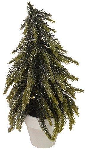 Kleiner Tannenbaum Im Topf.Chiccie Kleiner Tannenbaum Mit Glitzer Im Topf 26cm