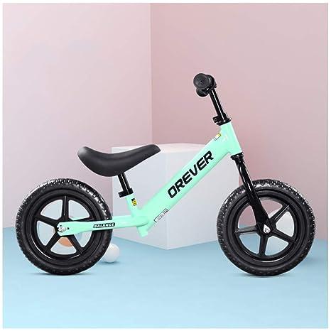 GSDZN - Bici Sin Pedales para Niños ☆ Estructura Metálica ☆ Asiento Ajustable ☆ Capacidad 50