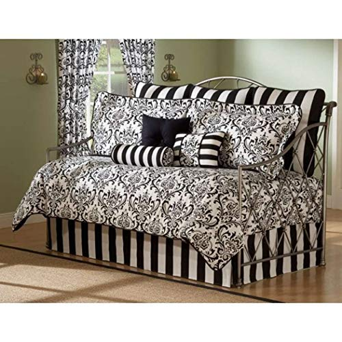 (Daybed Comforter Set 10 Piece Bedding Black White Bed In A Bag Sheets Bedspread)